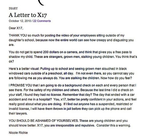 Nicole Richie's Open Letter to X17