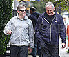 Slide Picture of Matthew Broderick and Victor Garber Walking in NYC