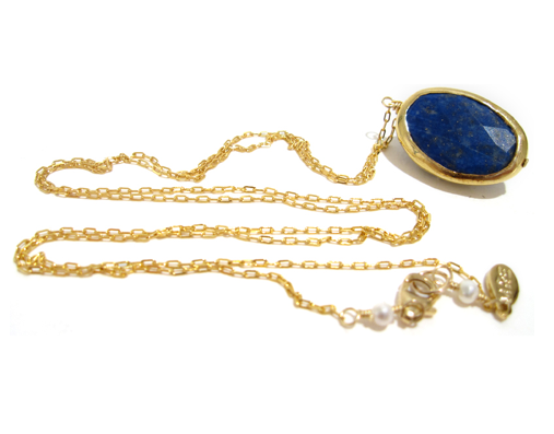 MRE Jewelry Lapis Pendant Necklace ($110)