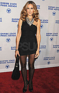Pictures of Sarah Jessica Parker at the Empire State Pride Agenda Dinner in NYC and Taking James Wilkie to School