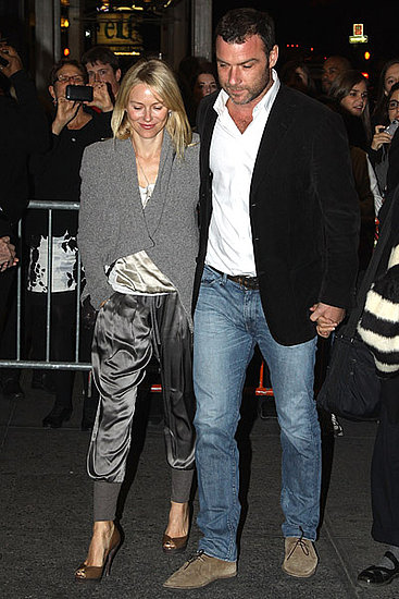 I always appreciate a couple that dresses well, and Naomi Watts and Liev Schreiber often get it right. Naomi's silk pants are super fresh.