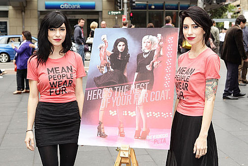 The Veronicas Jess and Lisa Origliasso Debut Their Anti-Fur PETA Ad in Sydney