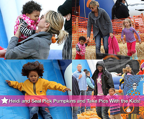 Pictures of Heidi Klum and Seal With Leni, Johan, Henry, and Lou at Pumpkin Patch
