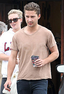 Pictures of Shia LaBeouf Leaving Lunch With a Friend in LA