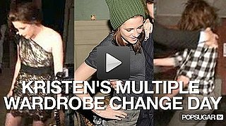 Video: Kristen Stewart's Multiple Wardrobe Change Day