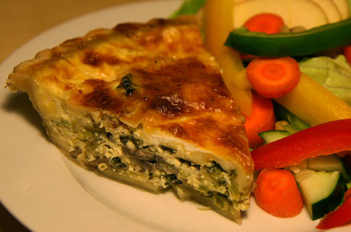 Broccoli Mushroom Leek Quiche