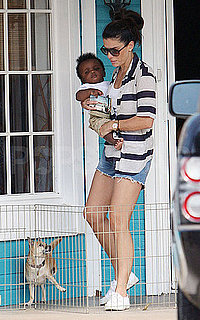 Pictures of Sandra Bullock in Austin With Son Louis