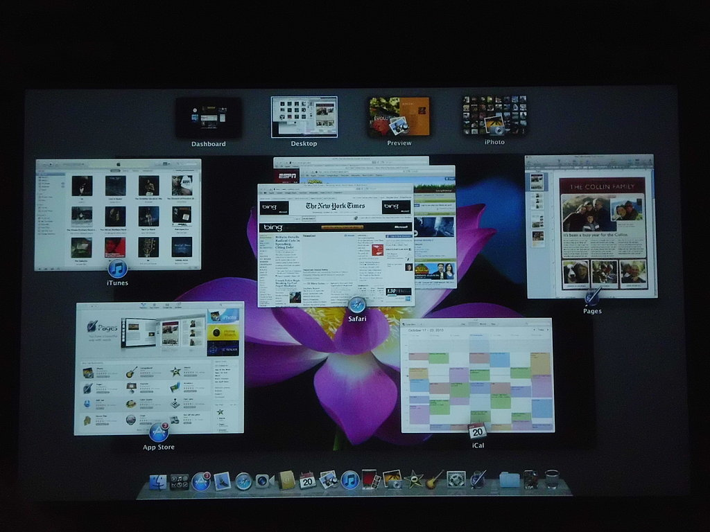 Screenshots of Mac OS X Lion