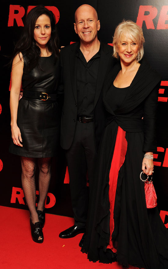 Pictures of Bruce Willis Helen Mirren and Mary Louise Parker At Red Premiere