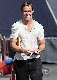 Pictures of Ryan Gosling's Muscles Filming Drive in LA