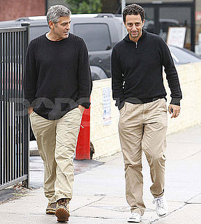 Pictures of George Clooney Walking in LA With a Friend
