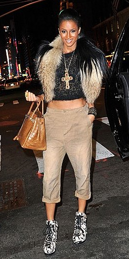 What do you think about Ciara's latest hard-core fashion sense?