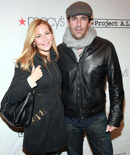 Pictures of Jennifer Westfeldt and Jon Hamm at a Party in NYC