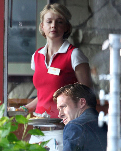 Pictures of Carey Mulligan and Ryan Gosling on the Set of Drive in LA