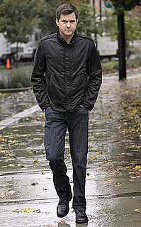 Pictures of Joshua Jackson in the Rain on the Set of Fringe
