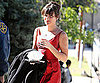 Slide Picture of Lea Michele Filming Glee 2010-10-27 04:30:00