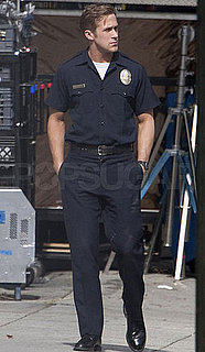 Pictures of Ryan Gosling Dressed As a Cop On the Set of Drive in LA