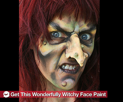 How to Create a Scary Witch Halloween Face Paint Look