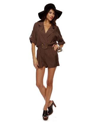 Snapped Button Accent Romper ($28)