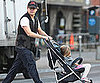 Slide Picture of Matt Damon Pushing Isabella in NYC
