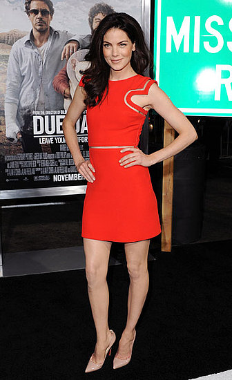 Michelle Monaghan's futuristic Versace is out of this world.
