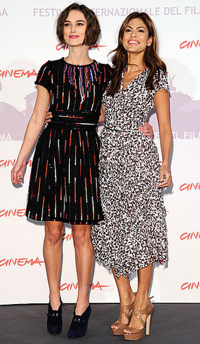 Pictures of Keira Knightley and Eva Mendes at Rome Film Festival