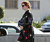 Slide Picture of Christina Hendricks at Lunch in LA