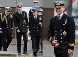 Prince William in Uniform at HM Naval Base Clyde in Scotland