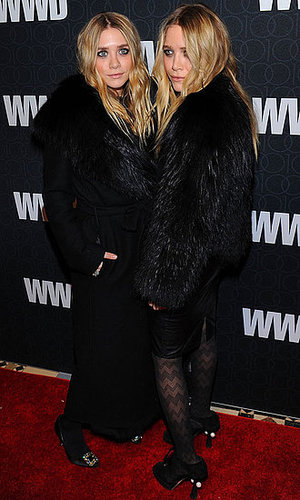 Pictures of Mary-Kate and Ashley Olsen and Jessica Szohr at WWD Party
