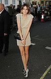 In a silky nude mini and bow-trimmed Chanel booties at the Glamour Women of the Year Awards in June '09.