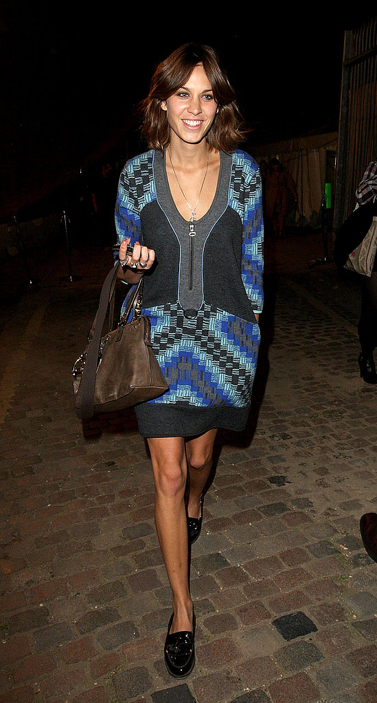 At London Fashion Week in 2008, rocking bold hues and bold print.