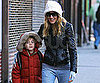 Slide Picture of Sarah Jessica Parker and James Wilkie on School Run
