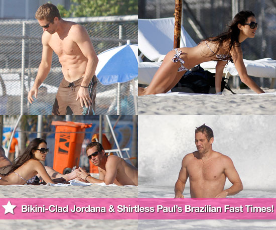Pics: Bikini-Clad Jordana Brewster and Shirtless Paul Walker's Brazilian Beach Fast Times