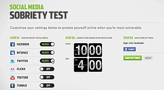 Online Social Media Sobriety Test