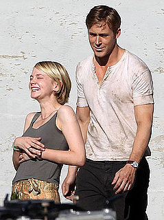 Pictures of Ryan Gosling and Carey Mulligan Laughing on Drive Set in LA