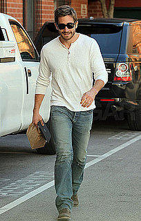 Pictures of Jake Gyllenhaal Brown Bagging It in Beverly Hills