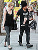 Pictures of Ashlee Simpson With Pete and Bronx Wentz Shopping