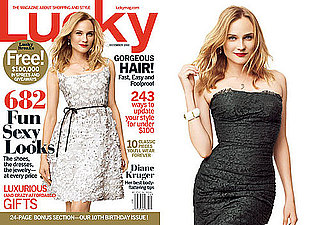 Pictures of Diane Kruger on the December Cover of Lucky Magazine