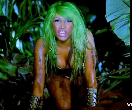 nicki minaj massive attack makeup. New Pictures of Nicki Minaj#39;s