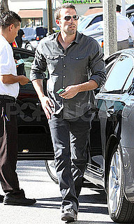 Pictures of Ben Affleck Valeting His Car at Katsuya in LA