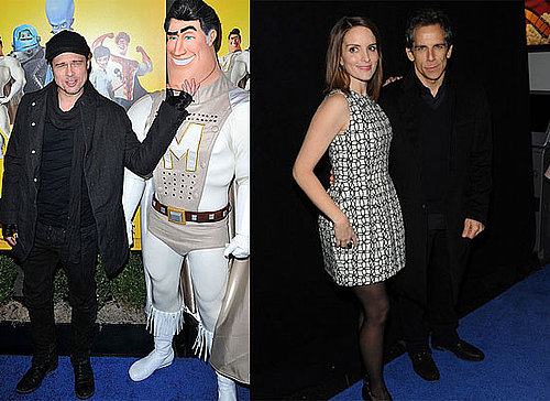 Brad Pitt, Tina Fey and Ben Stiller at the Megamind Premiere in NYC