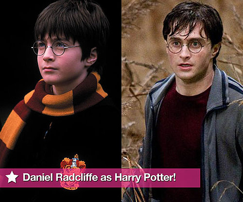 Daniel Radcliffe as Harry Potter Through the Years in All Films