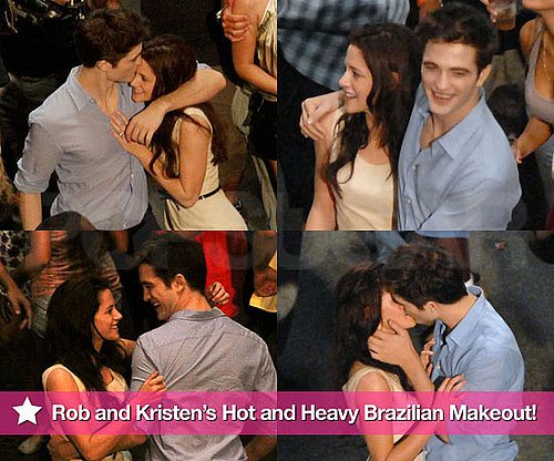 Pictures of Robert Pattinson and Kristen Stewart Kissing In Brazil