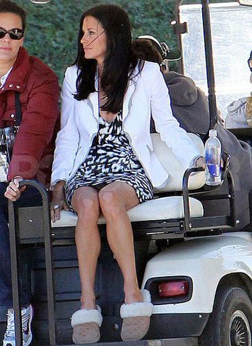 Pictures of Courteney Cox on Cougar Town Set