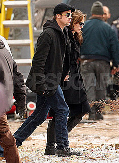 Pictures of Angelina Jolie With Brad Pitt on the Set of Her Directorial Debut in Budapest