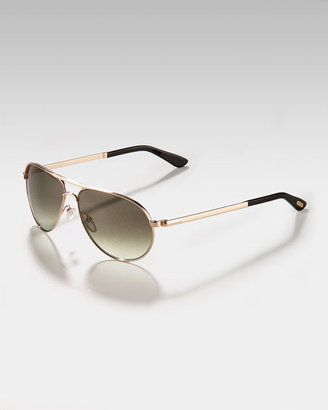 Tom Ford Eyewear Mathias Aviators ($390)