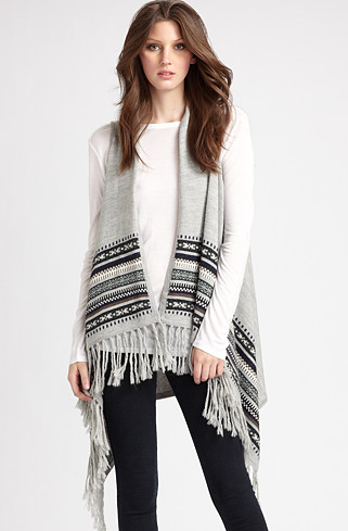 Design History Fringed Poncho Vest ($80, originally $132)