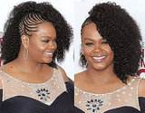 A Curly Side Braided Hairstyle