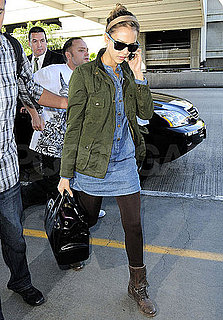 Pictures of Jessica Alba Departing LAX in LA