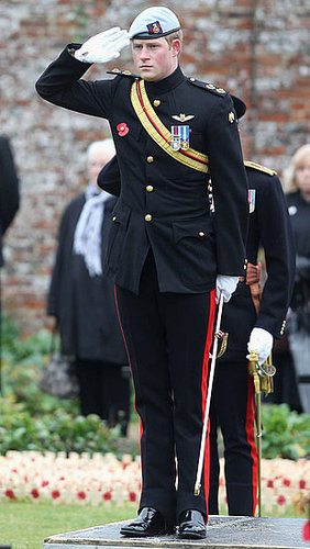 Prince Harry in Uniform Opening The Royal British Legion Wootton Bassett Field of Remembrance